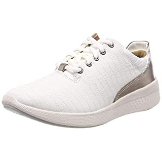 Clarks Damen Un Alfresco Lo Derbys Weiß (White Leather) 41 EU