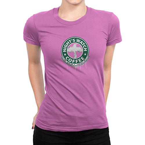 Planet Nerd - Night's Watch Coffee - Damen T-Shirt, Größe L, (Brienne Von Kostüm Tarth)