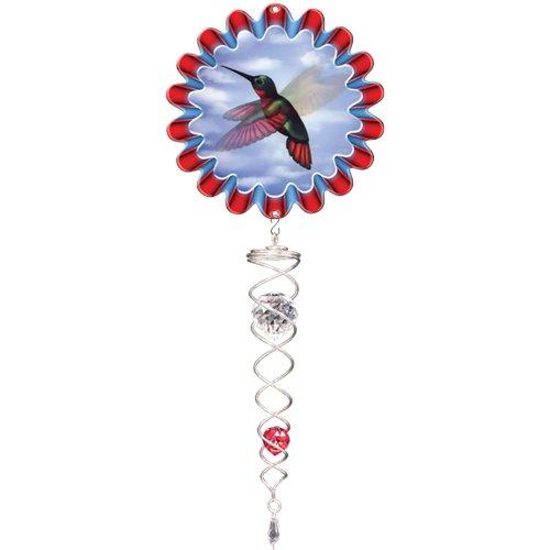 Twister cristal décoratif Animé d'Iron Stop Colibri Rouge/Argent ACT250-7M