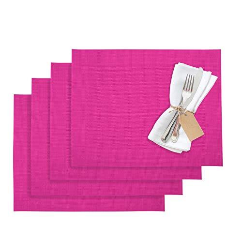 Westmark Tischsets, 4 Stück, 42 x 32 cm, Synthetik, Pink, Saleen Edition: Home, 01210253350