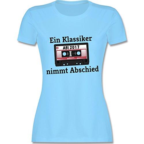 Abi Abschluss Abi 2017 Ein Klassiker nimmt Abschied tailliertes Premium  TShirt mit Rundhalsausschnitt für Damen Hellblau