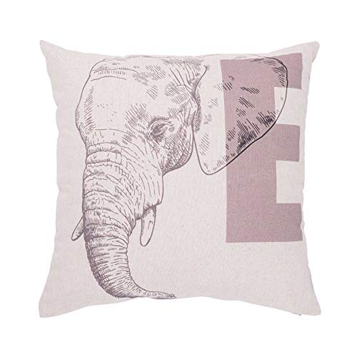 Liza Line COJÍN Decorativo, 100% Algodón (45x45cm - Animal Elefante)