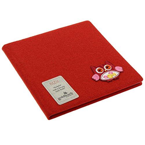 Goldbuch filZit A5Notebook–200Sheets, Card, Red, 96 weiße Seiten