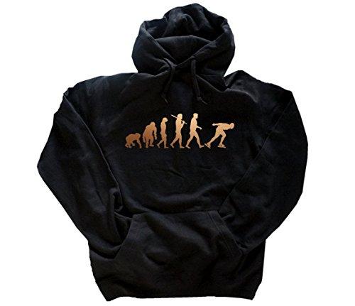 Bronze Edition Eisschnelllauf I Eislaufen Schlittschuhe Evolution Kapuzensweatshirt Hoody Schwarz S