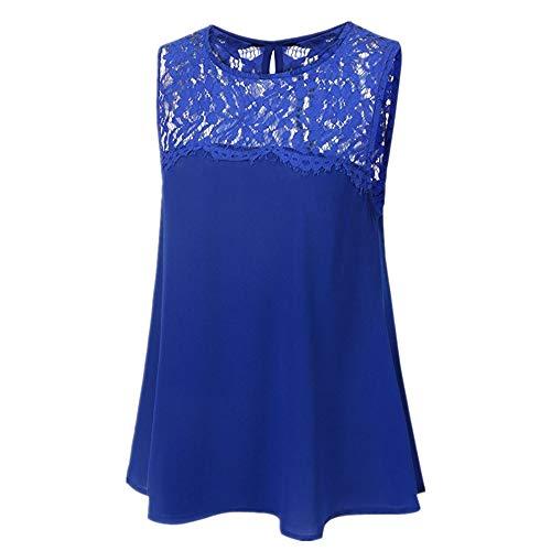 Frauen Stricken Am Bund (Frauen sexy lässig Sommer schlank trägerlos plissiert Geraffte Strand Weste Shirt Tube Tops blau L)