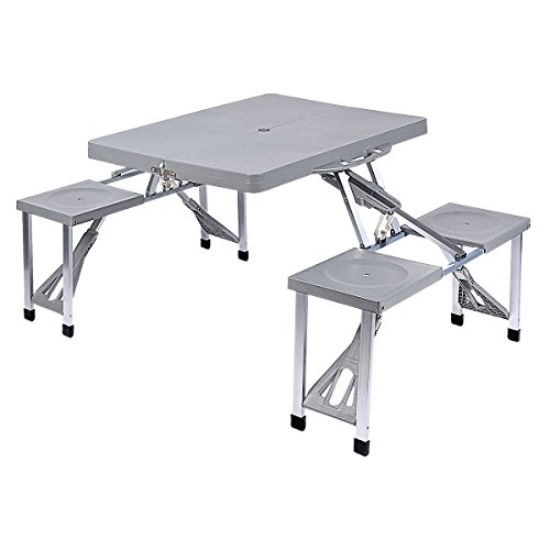 Picknick Tisch mit 2 Sitzbänken Camping-Garnitur Klappbar