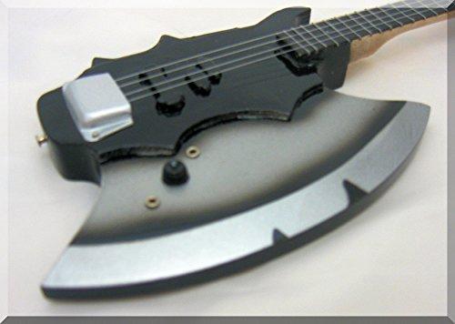 GENE SIMMONS en miniatura de bajo de guitarra besarme el hacha