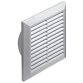 Awenta T83 Ventilation Grate Insect Screen Round Diameter 125 mm White ABS Grate