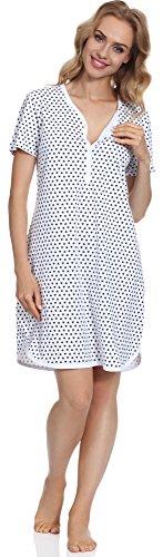 Cornette Damen Stillnachthemd CR6172016 (Muster-08, L) (Jugend Lange Ärmel 8)