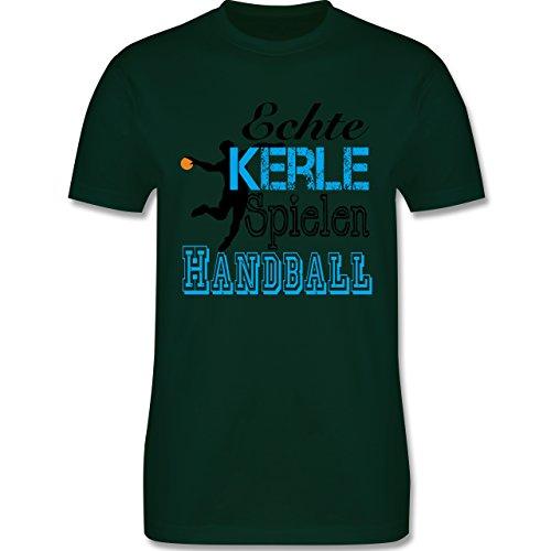 Handball - Echte Kerle Spielen Handball - Herren Premium T-Shirt Dunkelgrün
