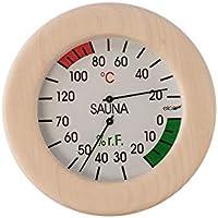 Eliga climática Cuchillo blanco 120mm para sauna en redondo marco de madera 155mm