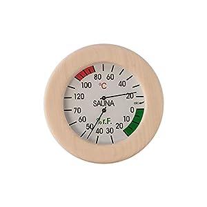 eliga Klimamesser weiß 120 mm für Sauna im Holzrahmen rund 155 mm
