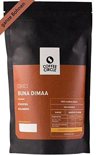 Coffee Circle | Premium Kaffee Buna Dimaa | 350g ganze Bohne | Kräftiger Bio Bohnenkaffee mit wenig...