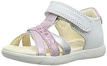 Geox B ALUL Girl D, Sandali a Punta Aperta Bimba, Bianco (White/Pink C0406), 25 EU