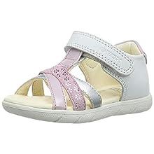 Geox B ALUL Girl D, Sandali Punta Aperta Bimba, Bianco (White/Pink C0406), 24 EU