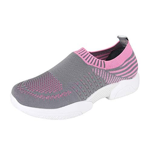 Xmiral Sportschuhe Mesh Schuhe Damen Atmungsaktiv Gymnastikschuhe Gummisohle Laufschuhe Wasserschuhe Strandschuhe Verschleißfest Traillaufschuhe Badeschuhe(Grau,41 EU)