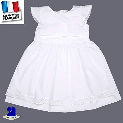Poussin bleu - Robe baptême et cérémonie Naissance-10 ans Made in France  Taille - ca5f2be52a8
