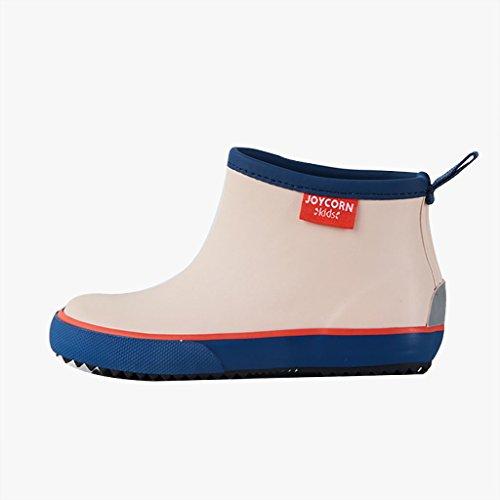 Kinder Regen Shoes1-6 Jahre alt Junge und Mädchen Baby Anti-Rutsch-Gummi Regen Stiefel für Frühling und Sommer (Farbe : Beige, größe : 16)