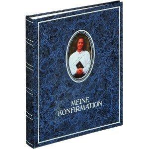 Pagna Konfirmations-Album 21x25cm 40+4 Seiten Blau/Wechselbild