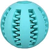 Hundespielzeug Ball MOMONY Hundeball & Snackball, Hunde Kauspielzeug mit Noppen und Loch für Leckerli, ø 7cm, für große und kleine Hunde, Dental-Zahnpflege-Funktion aus Naturkautschuk