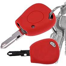 Key Soft Case Cover Funda Protectora de Silicona Funda de Coche roja para Renault R19 Clio