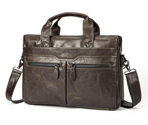 4 Leder SHFANG Ledertasche Arbeit Umhängetasche Business Herrenhandtasche Casual Aktentasche 4 qnHwRB