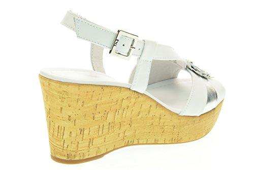NERO GIARDINI donna sandali con zeppa P615851D/707 Bianco