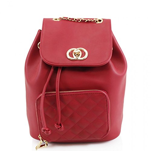 Craze London, Borsa a zainetto donna M Red