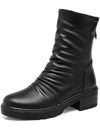 Easemax Damen Modisch Metall Stiefelschmuck High Top Nubuk Ankle Boots Mit Absatz Grün 34 EU