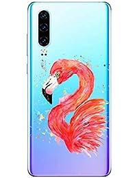 Oihxse Compatible con Huawei Y5 2018/honor 7s Funda Suave Gel TPU Silicona Cristal Transparente Carcasa Acuarela Animal Pintado Patrón Protectora Estuche Bumper Caso Case (B3)