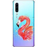 Oihxse Compatible con Huawei Y7pro 2019/Y7 2019 Funda Suave Gel TPU Silicona Cristal Transparente Carcasa Acuarela Animal Pintado Patrón Protectora Estuche Bumper Caso Case (B3)