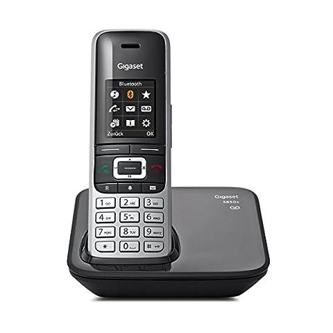 Gigaset S850A Telefon - Schnurlostelefon / Mobilteil - mit Farbdisplay / Dect-Telefon - Anrufbeantworter - schnurloses Telefon - mit Freisprechen - platin schwarz