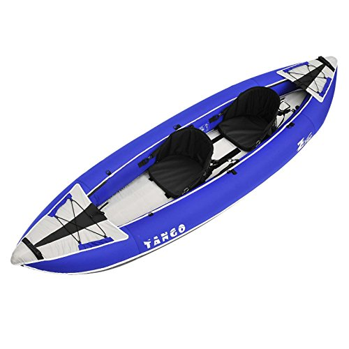 Z-Pro Tango 2 Inflatable Kayak Blue - 1 or 2 Person Kayak (Kayak Person 1 Inflatable)