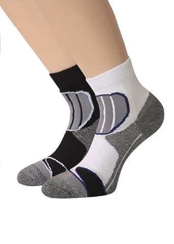Pour trekking et respirantes lot de 2 paires de chaussettes de sport courtes