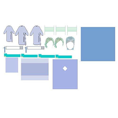 8x Medidrapes Comfort Op-Abdeckset / Schutzkleidung dentalchirurgisch, 19-teilig