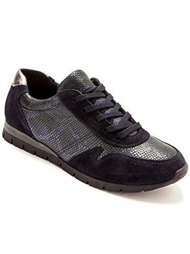 Balsamik - Sneakers pelle con suola amovinile - - Size : 40 - Colour : Blu marino