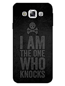 I Am The One Who Knocks - Breaking Bad - Typo - Hard Back Case Cover for Samsung E5 - Superior Matte Finish - HD Printed Cases and Covers
