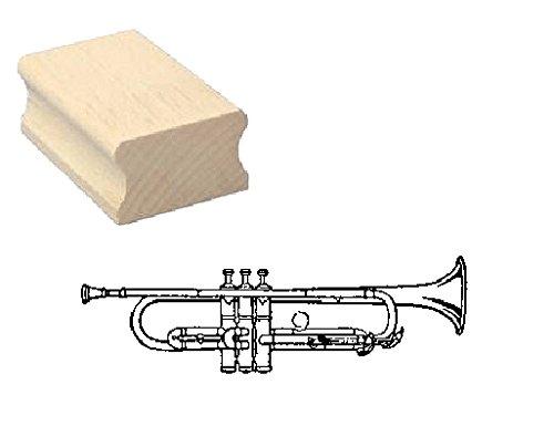 Stempel Holzstempel Motivstempel « TROMPETE » Scrapbooking - Embossing Blasinstrument Musiker Komponist Musik