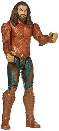 Mattel FGG84 DC Justice League Movie Basis Figur Aquaman, 30 cm (12-zoll-superhelden-figuren)