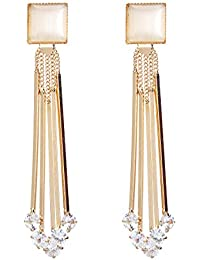 YouBella Jewellery Crystal Gold Plated Dangler Earrings for Girls and Women