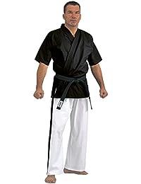 Kwon Yoseikan Anzug schwarz weiß 8 oz Unzen mit Gürtel blau/weiß