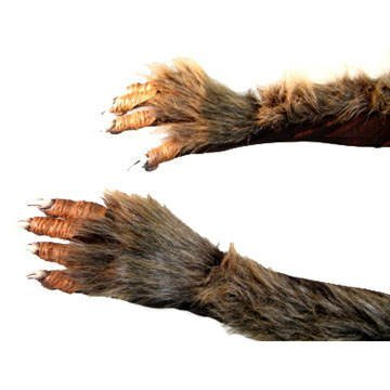 Latex Monsterhände braun (Handschuhe Kostüm Werwolf)
