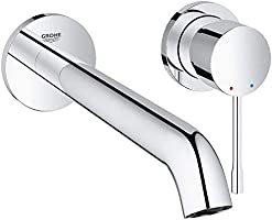 Grohe Metal Essence Wall Mounted 2 Hole Basin Tap
