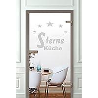 GD572 Glastür Tür Küche Aufkleber Selbstklebende Folie Tür Wohnzimmer Küche  Diele Badezimmer Terassentür Balkontür Zimmertür