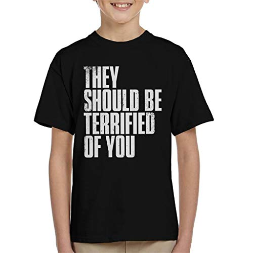 Cloud City 7 The Last of Us II They Should Be Terrified of You Kid's T-Shirt (Us Clicker The Last Of)