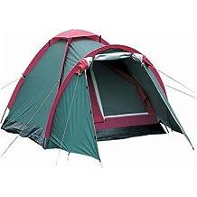 Iso Trade Campingzelt 4 Personen Familienzelt Igluzelt Kuppelzelt mit Tragetasche Wurfzelt Wasserabweisend 5843