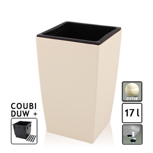 Unbekannt COUBI Tower macetas, 42,5cm de Alto, con Vaso, 8Colores, construcción Mejorada, Color Crema