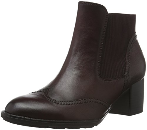 Gabor Shoes Basic, Stivaletti Donna, Rosso (Merlot Effekt), 41 EU