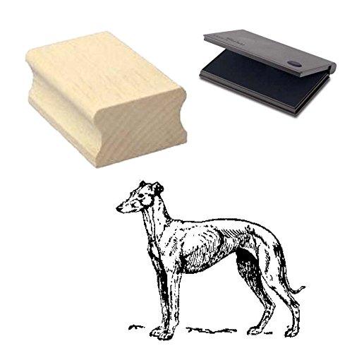 « GREYHOUND » Motivstempel mit Kissen Scrapbooking - Embossing - Basteln - Hund - Windhund 2 -