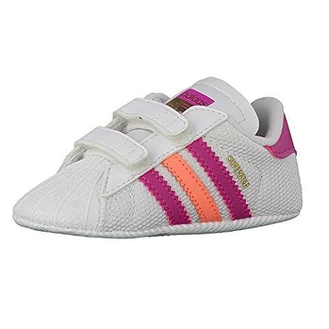 adidas Superstar Crib, Baskets Basses Mixte Bébé, Multicolore-Blanco / Rosa / Naranja (Ftwbla / Eqtros / Brisol), 18 EU